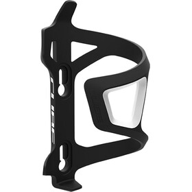 Cube HPP Left-Hand Sidecage Flaschenhalter schwarz/weiss